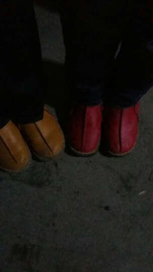 2019秋冬季新款儿童靴子宝宝皮靴小童短靴男童马丁靴女童雪地靴潮 黄色 大棉 36码 晒单图