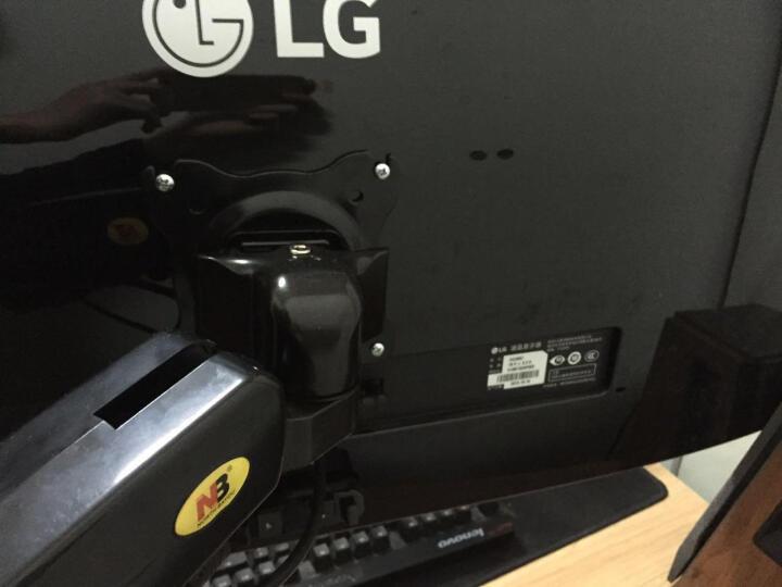 NB F80-A(24-35英寸)显示器支架桌面免打孔旋转升降伸缩架机械弹簧架人体工学架 晒单图