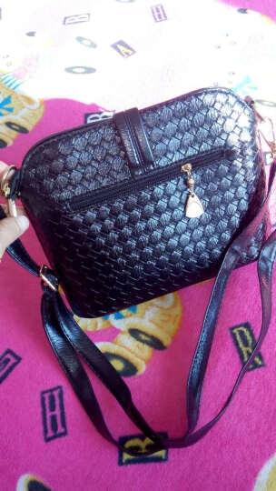 东芭 2017新款时尚单肩包潮流糖果色单肩斜跨女士包包斜挎小包 元扣锁(黑色) 晒单图