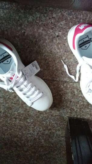 美特斯邦威-潮流品牌板鞋男情侣款韩版潮运动休闲青春潮流舒适小白鞋 白红组 40 晒单图