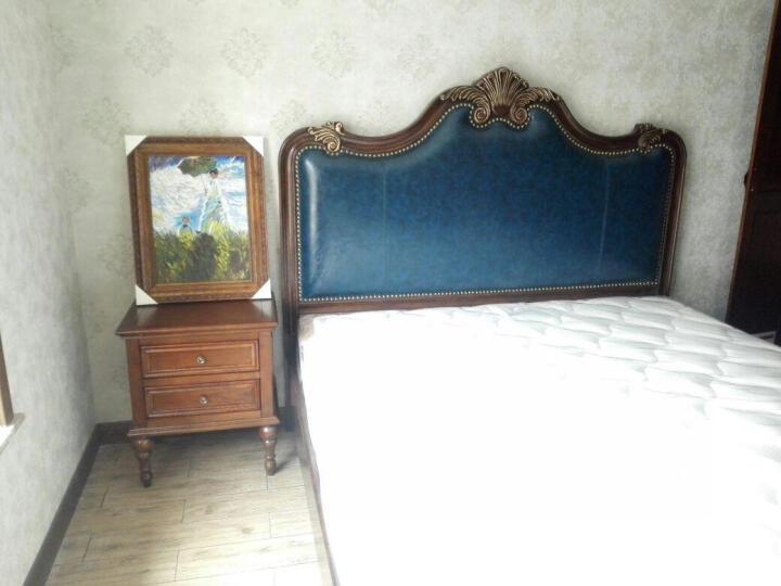 迪斯名媛 床头柜 实木美式床头柜  胡桃色床柜  白色小柜子 现代简约床边柜 胡桃木色 650*500*750 晒单图
