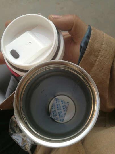 KARPHOME卡普家居咖啡杯拿铁随行保温杯人体工学设计喝水杯不锈钢内胆防漏水杯男女用情侣送礼杯 钻石白500ML 晒单图