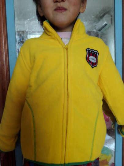 爸妈亲(KIDS MAM&DAD)童装外套儿童上衣男女童长袖摇粒绒开衫60059黄色130 晒单图