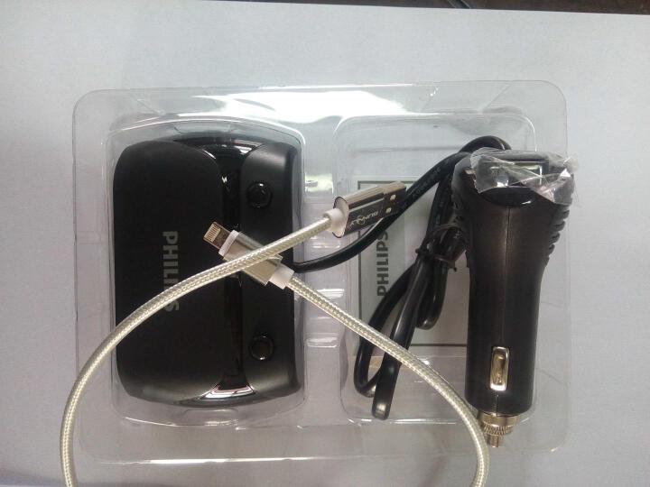 飞利浦(PHILIPS) 车载充电器车充点烟器一拖三多功能USB快速充电头 晒单图