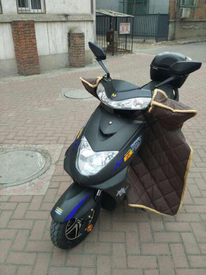 欧峰 迅鹰电动车电瓶车电摩踏板摩托车72V双人60V祖玛自行车96v1500W 磨砂黑 大迅鹰72v20A超威电池 晒单图