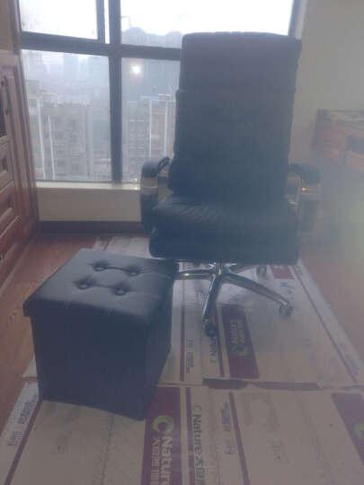 品仪 电脑椅家用真皮老板椅可躺办公椅大班椅升降转椅子A020 升级版-卡其色(头层牛皮)震动按摩+乳胶 晒单图
