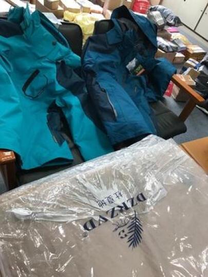 杜戛地(DZRZVD) 冲锋衣 三合一 两件套 户外服装 冲锋衣裤 男 女 迷彩服 登山服 军绿(男款) 2XL/码 晒单图