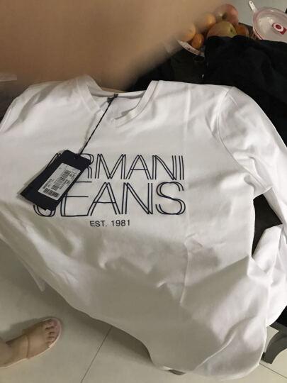 ARMANI JEANS 阿玛尼 男士红色棉氨纶V领长袖T恤衫 6X6T11 6JOAZ 1492 L码 晒单图