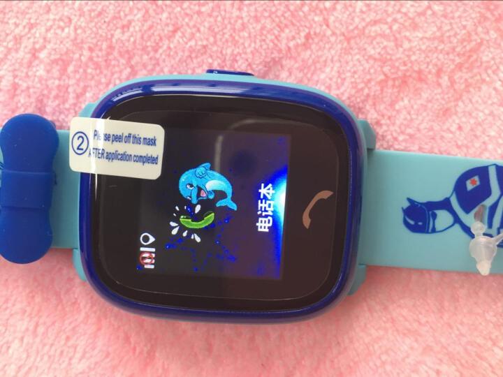 【货到付款】柒客儿童电话手表学生触屏360度智能定位手表手机防水 电信款-粉色(大彩屏非触屏+生活防水) 晒单图