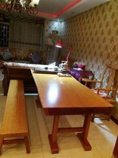 框广(frame art) 实木大板桌办公桌家具 奥坎巴花鸡翅原木大板茶桌餐桌老板会议桌 花梨 1.8m 晒单图