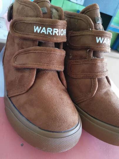 回力儿童帆布鞋儿童靴子男童雪地靴女童棉鞋冬季加绒宝宝雪地棉 红色1 30码/200-内长19.5cm 晒单图