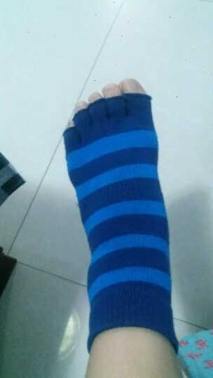飞客瑜伽袜五指袜颗粒防滑露背五趾专业运动纯棉圆头袜透气吸汗耐磨男女士舞蹈袜子成人均码 藏蓝五指 晒单图