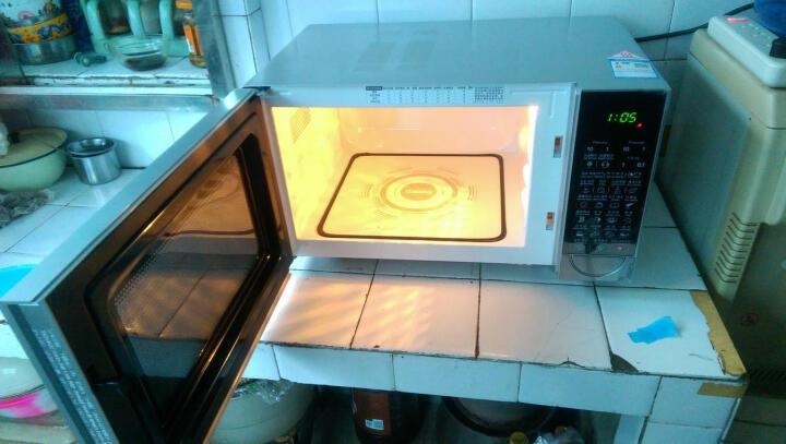 微波炉 23升800瓦 平板 解冻 镜面外观 光波烧烤1秒启动 G80F23CN2P-B5(R0) 晒单图