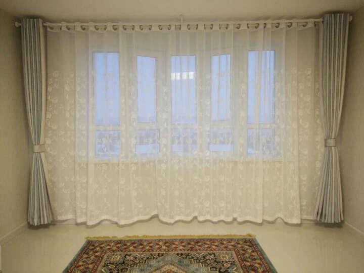 梵迪欧窗帘 花如烟田园清新简约现代窗帘窗纱纱帘成品套装 客厅卧室阳台飘窗定制窗帘布 纯色-清新绿 打孔1米宽x2.7米高  高可改 要几米拍几件 晒单图