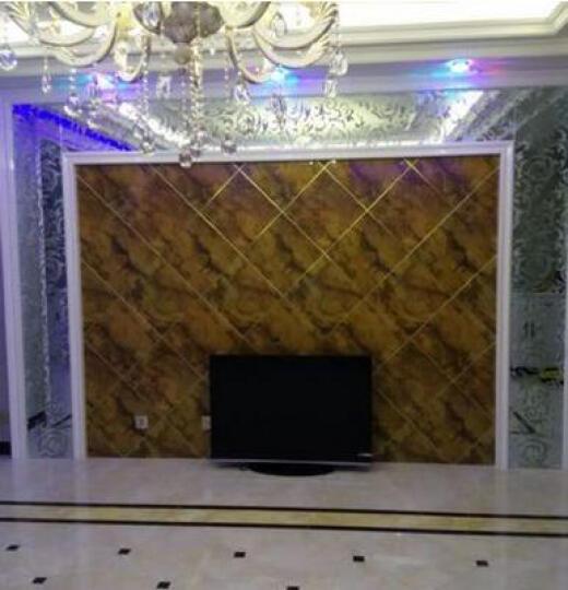 波拉波拉 电视背景墙 微晶石瓷砖 背景墙/0.1平方米 棕宝石 400X800mm 晒单图