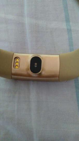 【京东配送】希比希 智能手环 蓝牙计步器防水心率检测血压监测健康睡眠男 运动手环女小米华为 金色-A99 晒单图