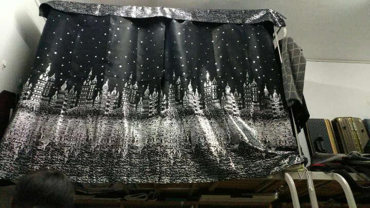 英罗兰  宿舍床帘遮光帘单人床围帘子上铺下铺窗帘寝室卡通床幔蚊帐 黑色 2*1.2米高 一片(围正面) 晒单图