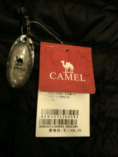 骆驼 CAMEL 户外运动羽绒服男女短款轻薄保暖羽绒外套秋冬 A6W2U7110 枣红 XL 晒单图