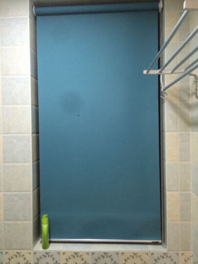 CR9钢拉珠卷帘窗帘遮光升降遮阳 办公室卧室浴室厨房镜子防水定制 全遮光亚麻棕色WS-JL14-3717 晒单图