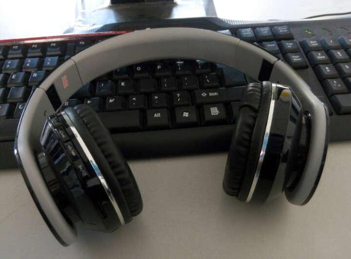 MATE 蓝牙耳机头戴式 插卡重低音手机电脑电视无线音乐便捷MP3播放器折叠电脑手机通用 黑粉色-纹路款 晒单图