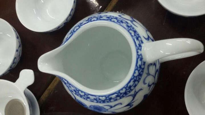 尚言坊茗器 茶具套装 整套功夫茶器青花瓷玻璃飘逸杯竹茶盘茶托居家办公 竹一方地-玲珑瓷向阳花盖碗10入茶具套装 晒单图