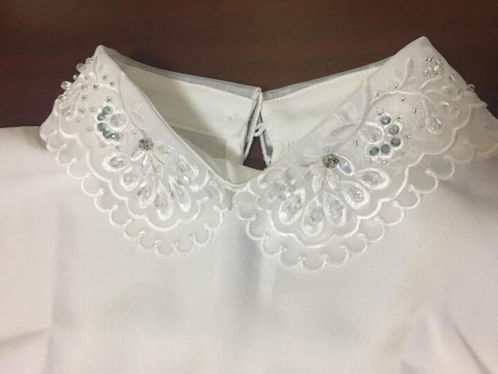 木衣假领子女款韩版时尚黑白色假衣领甜美百搭女式衬衣假领 HB17029 QJ5171黑色 晒单图