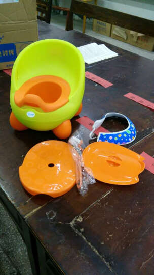 宝贝时代(Babyyuga) 大号儿童坐便器男女宝宝座便器婴儿小孩马桶 婴幼儿坐便器尿盆 绿色+坐凳盖+坐垫 晒单图