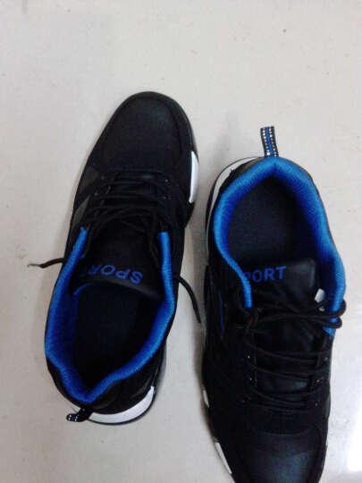 悍捷路 男鞋 男士休闲鞋 冬季保暖加绒休闲皮鞋  韩版运动板鞋  鞋子男款 黄色 41 晒单图