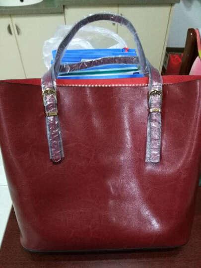 纳兰杜(Nalandu)女包2020新款单肩包女牛皮大包休闲时尚购物袋女士包包 88935-浅灰色 晒单图