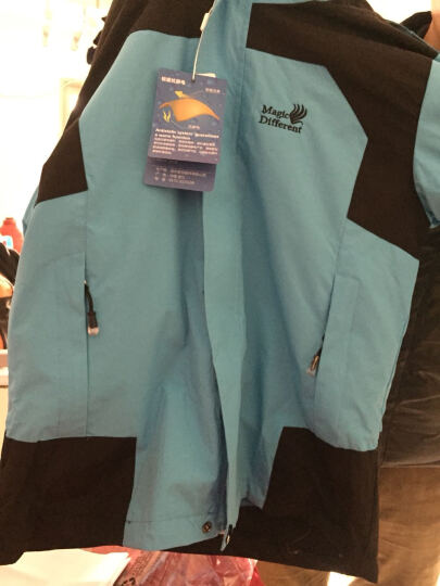 南极人(Nanjiren) 儿童户外运动冲锋衣 秋冬男童女童双层防风衣三合一两件套 天蓝 150cm 晒单图