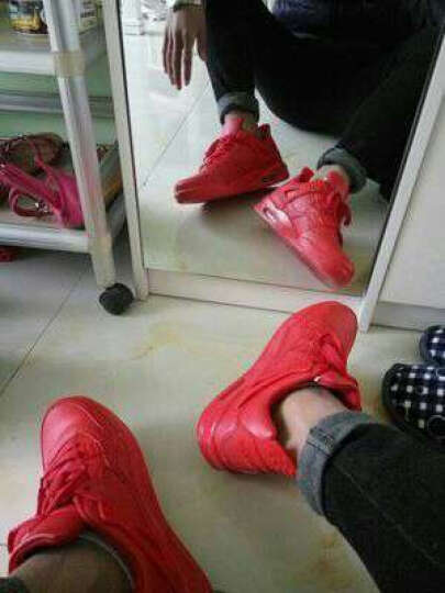 MVPBOY休闲鞋春季男女鞋时尚板鞋情侣跑步鞋鞋子男运动鞋A8906 AJ4 黑红加绒 41 晒单图