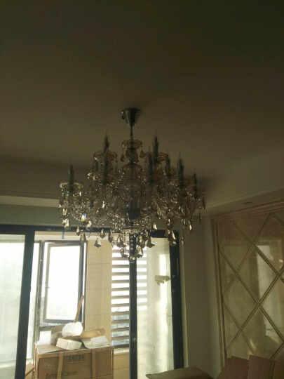 欧式吊灯客厅灯卧室美式蜡烛水晶灯