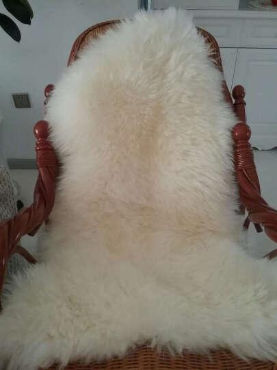 牧诺 冬季羊毛地毯 卧室地毯纯羊毛 整张羊皮羊毛沙发垫北欧地毯床边地毯 飘窗垫简约长毛毯 奶茶色 澳洲2p70*200cm 晒单图