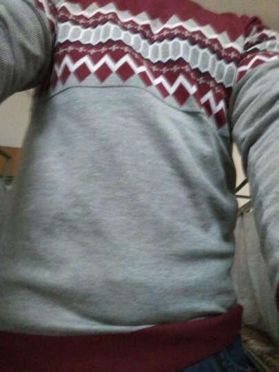 【12.12钜惠!两件99元】百搭针织男2016秋冬新款毛衣男士休闲套头针织衫 337藏青+337黑 L 晒单图