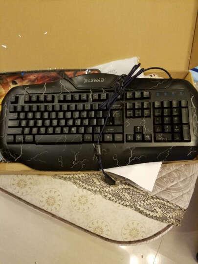 炫光键盘鼠标套装有线笔记本台式电脑USB游戏键鼠套装发光CF无声静音鼠标套件机械手感键盘 S8静音鼠标黑+M200三色裂纹发光键盘 晒单图