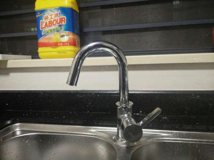 恒洁卫浴(Hegii)旋转单孔面盆洗脸盆厨房通用冷热水龙头15381-TBW 晒单图