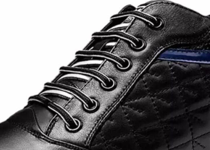 高尼增高鞋男6cm 男士透气内增高男鞋8CM 舒适男士运动休闲皮鞋 黑色6CM【春季新款】 39 晒单图