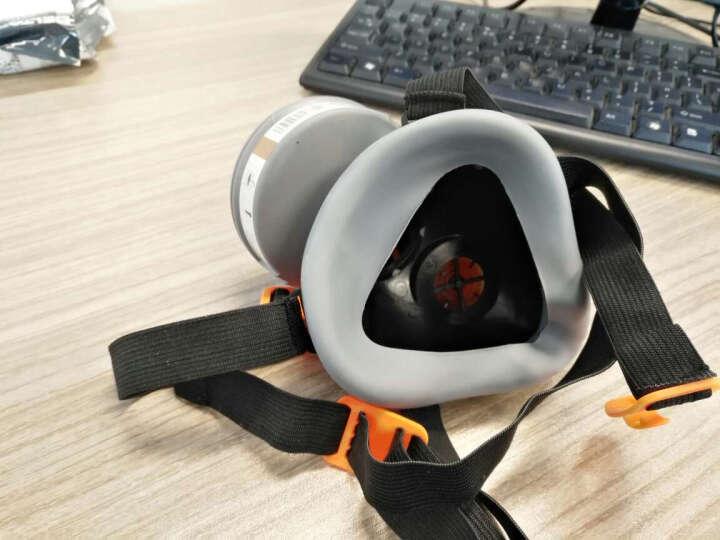 代尔塔防毒口罩面具套装半面罩口罩 消防喷漆化工打农药烧电焊用 防有机气体蒸汽防粉尘 配件-滤棉10片 晒单图