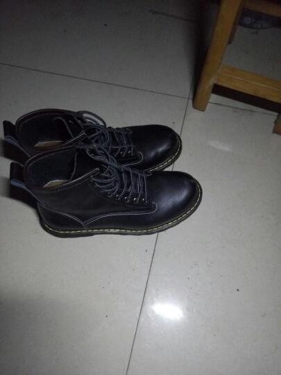 ROTO 马丁靴男靴男士真皮皮靴英伦高帮鞋男时尚加绒加厚工装韩版冬季短靴子 89027黑色 42 晒单图