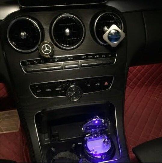 尼克莱  奔驰c级E级glk级GLC车载烟灰缸 车用带LED灯带盖通用烟灰缸 奔驰标烟灰缸 银盖黑钢款 奔驰B级 B200 B260 B180 晒单图