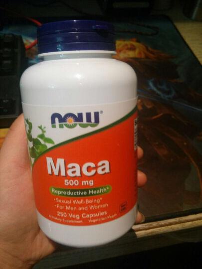 诺奥(NOWFOODS) 诺奥now秘鲁玛卡精片胶囊男性保健品生精提升抗疲劳Macaa 500mg250粒3瓶 晒单图