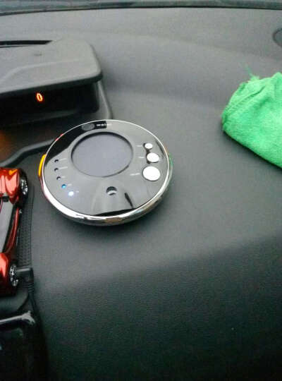 ?车载空气净化器 除甲醛太阳能香薰净化器负离子加湿器PM2.5 飞碟UFO-1 月星白 晒单图