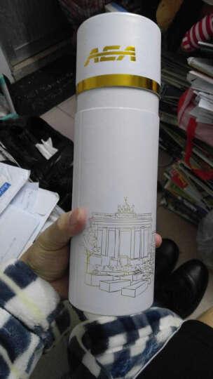 aea 保温杯水杯男女杯子不锈钢泡茶杯450ML 拉丝银圆筒礼盒装 晒单图