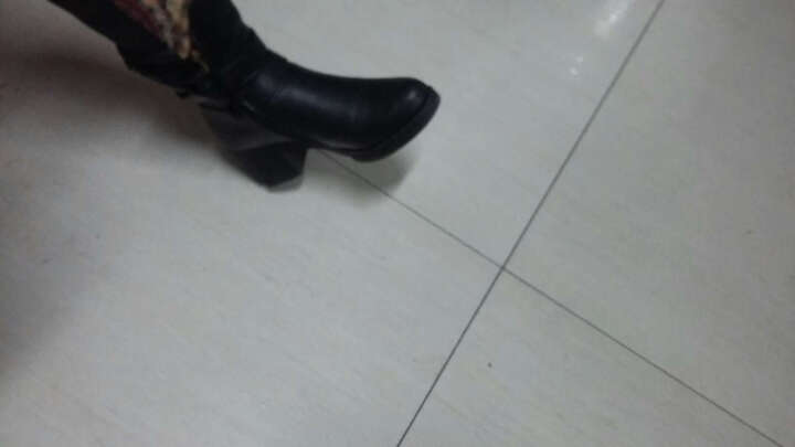 短靴女马丁靴女中筒靴英伦秋冬新款圆头粗跟女靴子中跟防水台加绒保暖冬靴防滑时装靴 棕色1882 38 晒单图