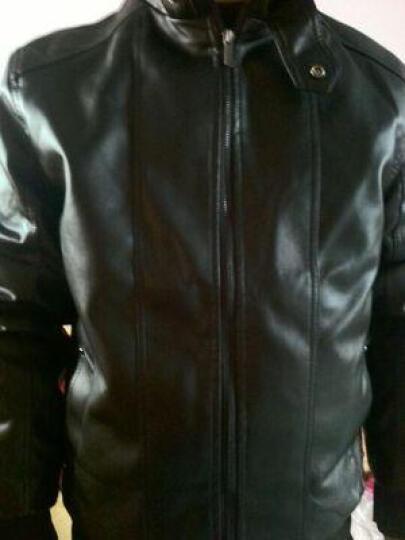 冒险龙皮衣男春季薄款 男士皮夹克外套2019春韩版新款修身机车PU皮夹克海宁风衣大码有加绒款 黑色薄款 XL 晒单图