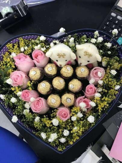 缘梦鲜花速递9枝粉玫瑰加巧克力加小熊礼盒装520鲜花生日鲜花送女友爱人春节同城送花 9朵红玫+6巧克力+1熊 平时配送 晒单图