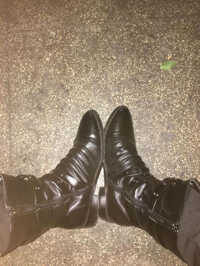WENDYTDN加绒加厚马丁靴男秋冬新款英伦时尚潮流男靴 黑色 40 晒单图