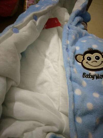 班纳班纳 婴儿冬天连体衣加厚保暖新生儿外出服棉袄男女宝宝珊瑚绒0-3-6-9-12个月 黄蜜蜂圆点加厚 建议0-3个月内宝宝 晒单图