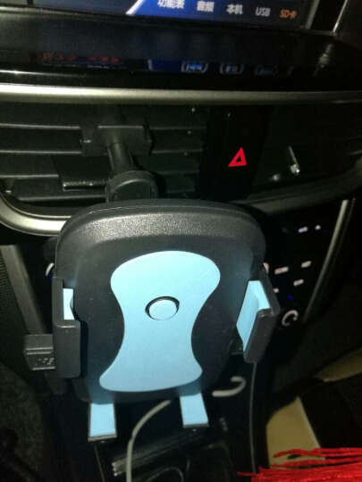YOMO 多功能手机支架夹式适用于车载/书桌/导航视频支架 适用于苹果iphone7/plus/三星华为小米安卓手机 蓝色 晒单图