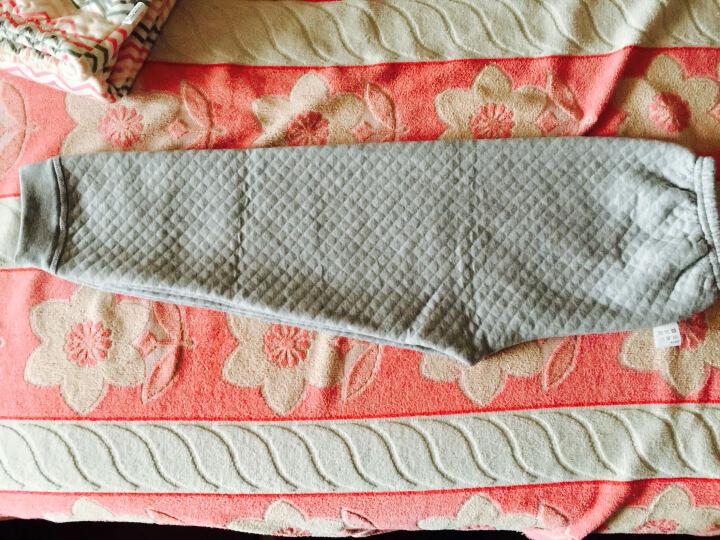 俞兆林(YUZHAOLIN) 儿童内衣套装纯棉男女童秋衣秋裤套装四季可穿 肩扣横条树袋熊-黄色 120CM 晒单图